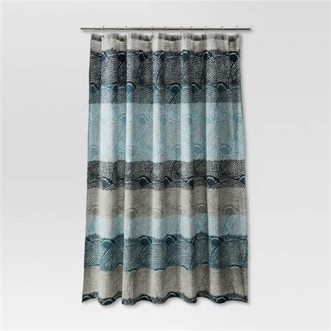 threshold shower curtains dot scallop shower curtain cool threshold target