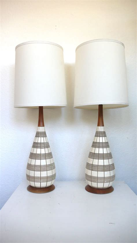 Pair Of Mid Century Modern Lamps Reserved For Mwesthoven