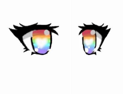 Gacha Eyes Rainbow Gachalife Picsart Sticker