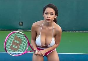 Topless model Elizabeth Anne playing tennis on YouTube ...