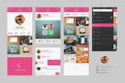 Dribbble Mobile App UI Kit Free PSD at DownloadFreePSD.com