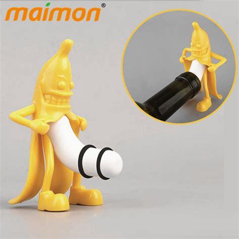 funny  banana wine stopper novelty bar tools banana man
