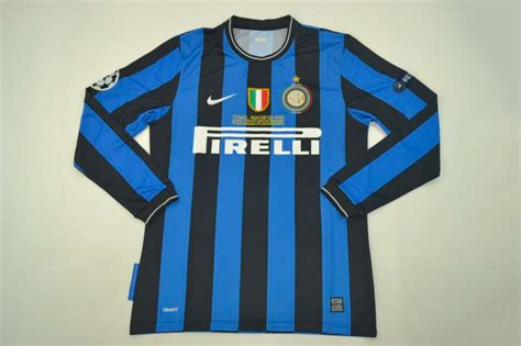 inter milan 2009 2010 chions league sleeve retro jersey fully customizable