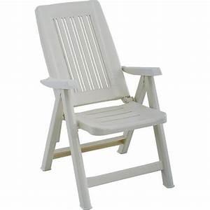 Fauteuil En Resine : fauteuil de jardin blanc multipositions en r sine trigano store ~ Teatrodelosmanantiales.com Idées de Décoration