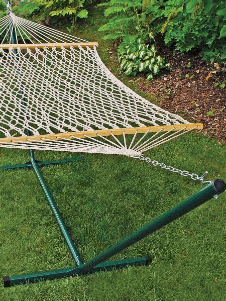 Cotton Rope Hammock With Stand by Classic Cotton Rope Hammock With Steel Stand