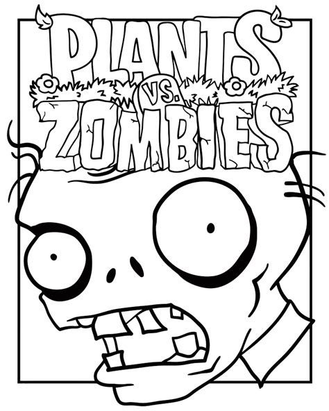 plants zombies coloring pages to and print for free