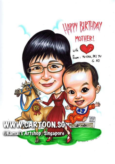 cartoonsg singapore caricature artists  gifts