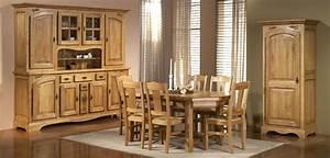 salle a manger rustique ardoise en chene meubles bois massif With meuble de salle a manger avec salle a manger rustique