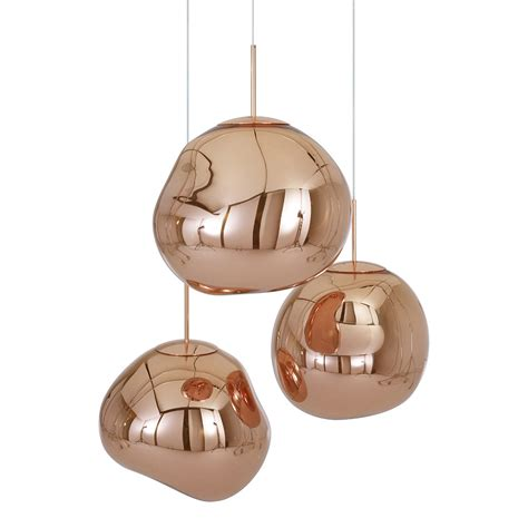 buy tom dixon melt copper pendant light amara