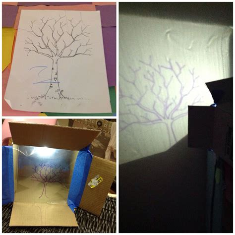 diy projector  print image  mural  trace image