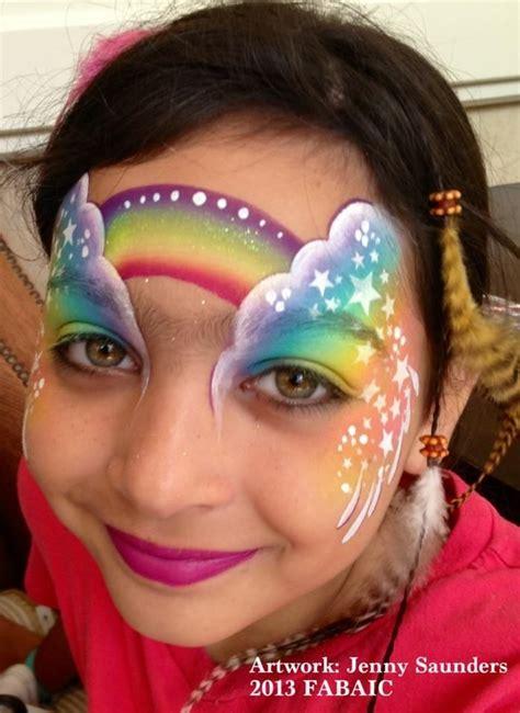 einhorn schminken erwachsene saunders rainbow design facepainting kinderschminken schminkgesichter und kinder