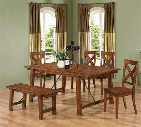 table co rustic pecan extendable table co 991 transitional dining
