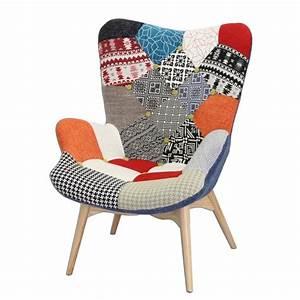Fauteuil Scandinave Patchwork : fauteuil patchwork darling belhome ~ Teatrodelosmanantiales.com Idées de Décoration