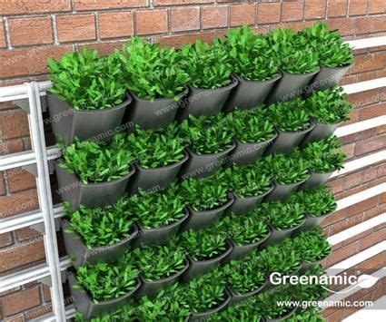Vertical Garden Solutions by Wallpot Modular Vertical Garden Solutions Planters