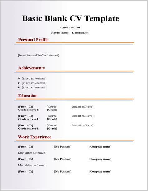 19975 blank resume formats printable blank resume templates for free resume
