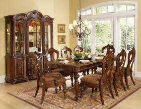 9 dining room set homelegance prenzo 9 dining room set in warm brown