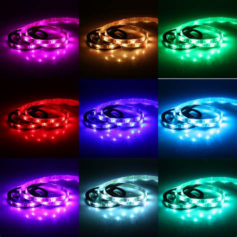 how to change the color of an led light 1 5m smd 5050 rgb flexible led light strip color changing