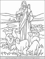 Jesus Coloring Shepherd Shepard Catholic Children Sheets Thecatholickid Printables sketch template