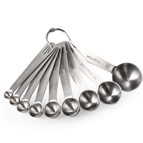 measuring spoons spoon tsp steel liquid stainless ingredients dry tbsp taste cooking piece sizes amazon different cup sheknows metal compare