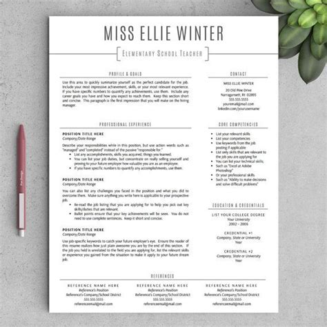 Teachers Resume Template by 25 Best Ideas About Resume Template On