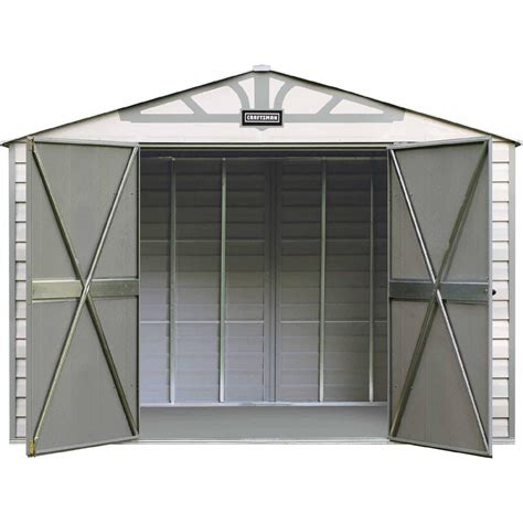 sears metal sheds craftsman cvcs107 10 ft x 7 ft vinyl coated steel