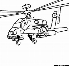HD Wallpapers Apache Helicopter Coloring Page
