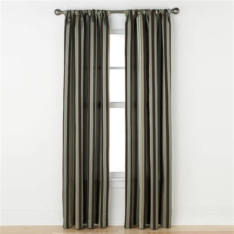 kohls window curtain rods striped curtains window treatment kohl s