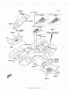 Kawasaki Atv 2003 Oem Parts Diagram For Fenders