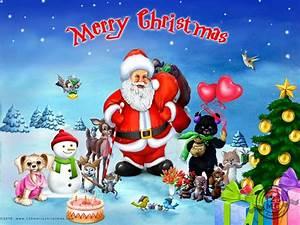 Hình ảnh ông già Noel đi phát quà - Merry Christmas - Xmas ...