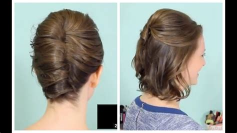 French Twist & Half Updo For Short Hair!