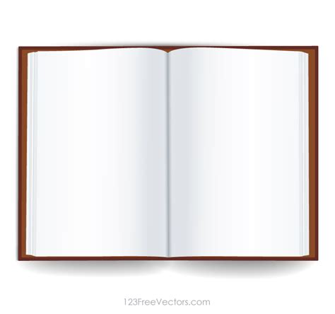 Blank Open Book Template 123freevectors