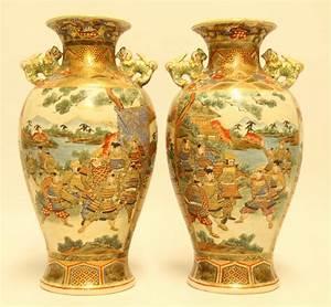 a, pair, of, japanese, satsuma, vases