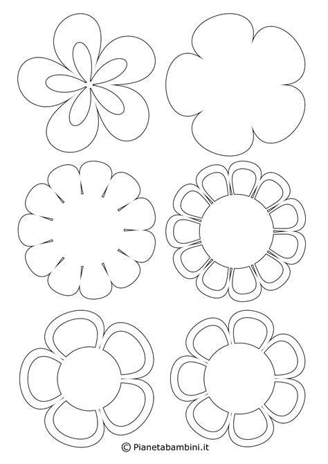 disegni piccoli colorati 81 sagome di fiori da colorare e ritagliare per bambini