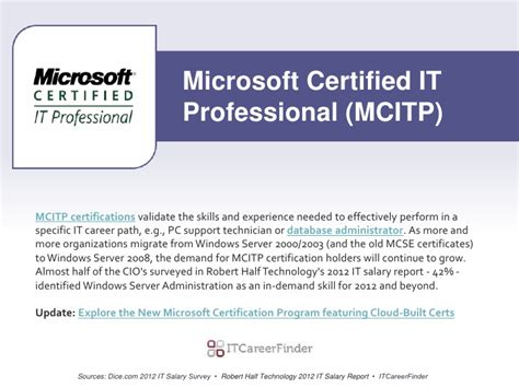 Pc Support Technician Salary by It Certifications In Demand For 2012 Best Certs To Get A