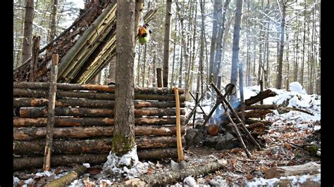 Solo Bushcraft Camp 2 Nights In The Snow Natural
