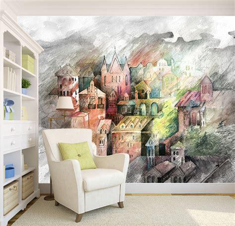 home decor wall murals 3d castle 344 wall murals wallpaper decal decor home