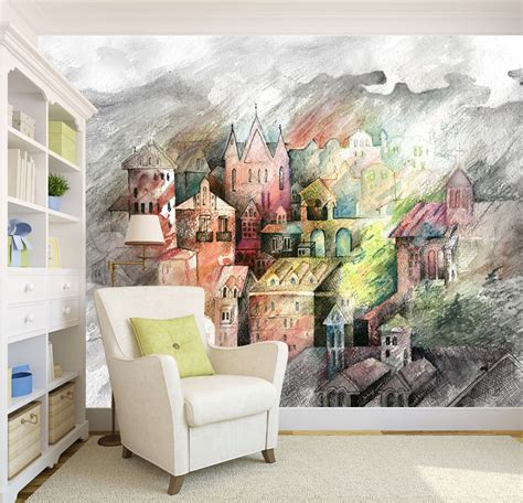 3d Castle 344 Wall Murals Wallpaper Decal Decor Home Kids