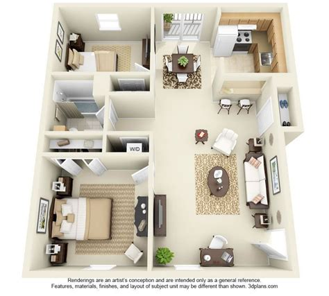 Two Bedroom Apartment Design Plans by Two Bedroom Apartment Floor Plans Search