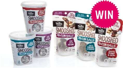 win    packs  tasti smooshed protein balls  tots