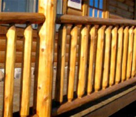 Log Railing   Round Railing   Northern White Cedar   White