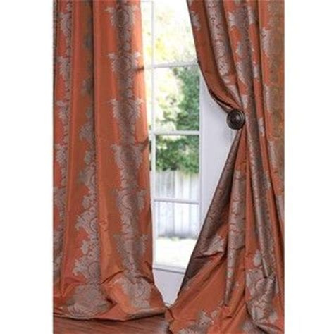 rust colored kitchen curtains faux silk curtains silk curtains and rust on 4956