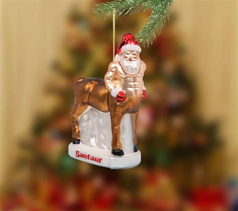 santaur christmas tree ornament