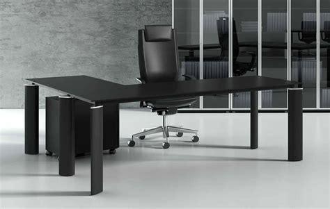 bureau verre noir bureau en verre noir 180 cm avec retour