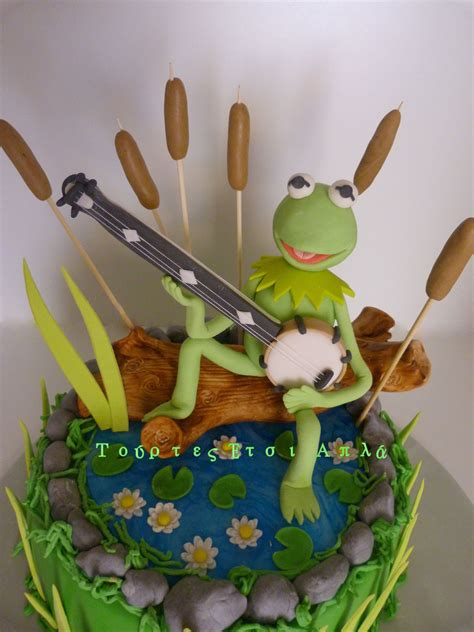 rainbow connection kermit cake muppets sesame street frog