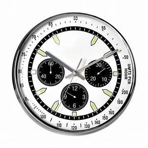 Horloge Murale Blanche : horloge montre blanche et chrome ~ Teatrodelosmanantiales.com Idées de Décoration
