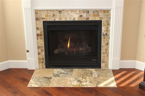 pam s wood tile floors and fireplace traditional