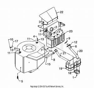 Mtd 13ai673h352  2000  Parts Diagram For Muffler  U0026 Engine
