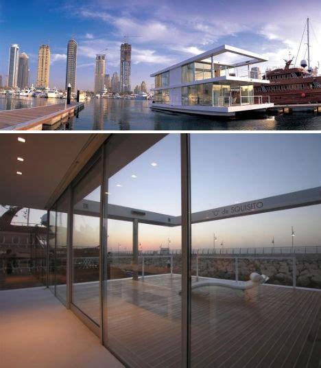 Houseboat Dubai by Water Villas 3 Sleek Modern House Boats In Settings