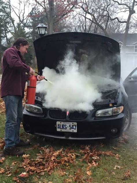 pontiac grand prix engine compartment fire  complaints