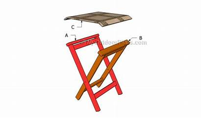 Stool Folding Plans Woodworking Wooden Chair Wood